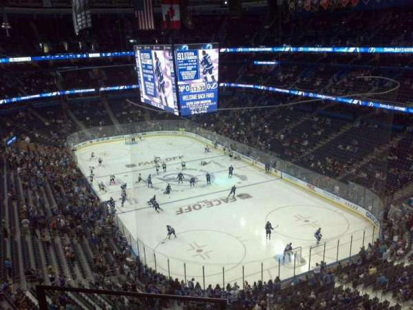 Amalie Arena, section: 325, row: C, seat: 18