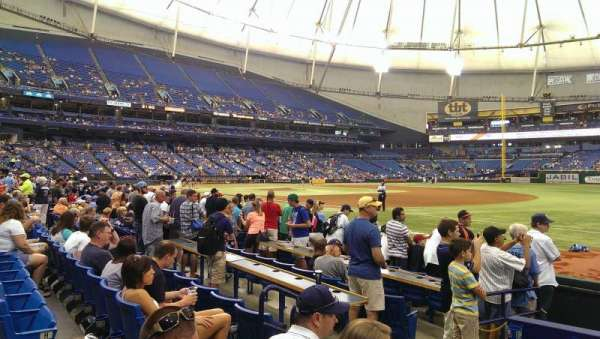 Tropicana Field, section: 128, row: J, seat: 4