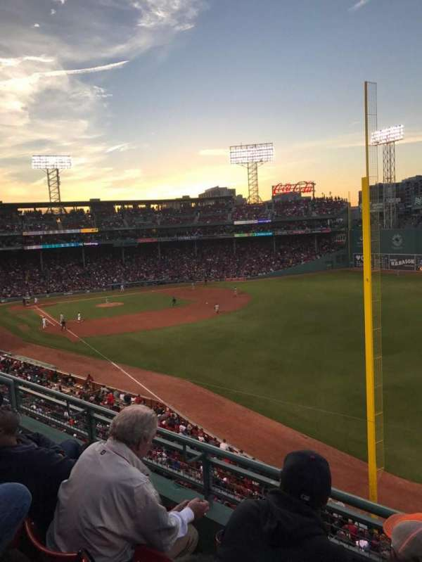 Fenway Park, section: Right Field Box 93, row: C, seat: 2