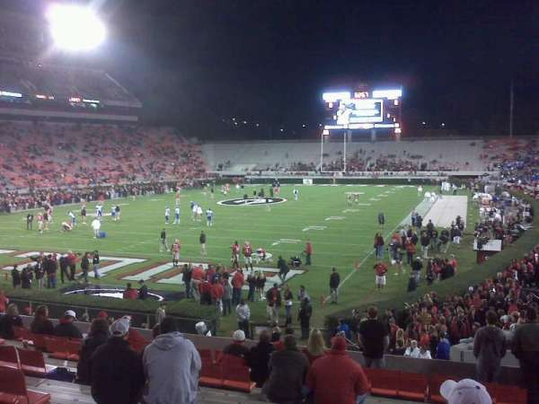 Sanford Stadium, section: 117