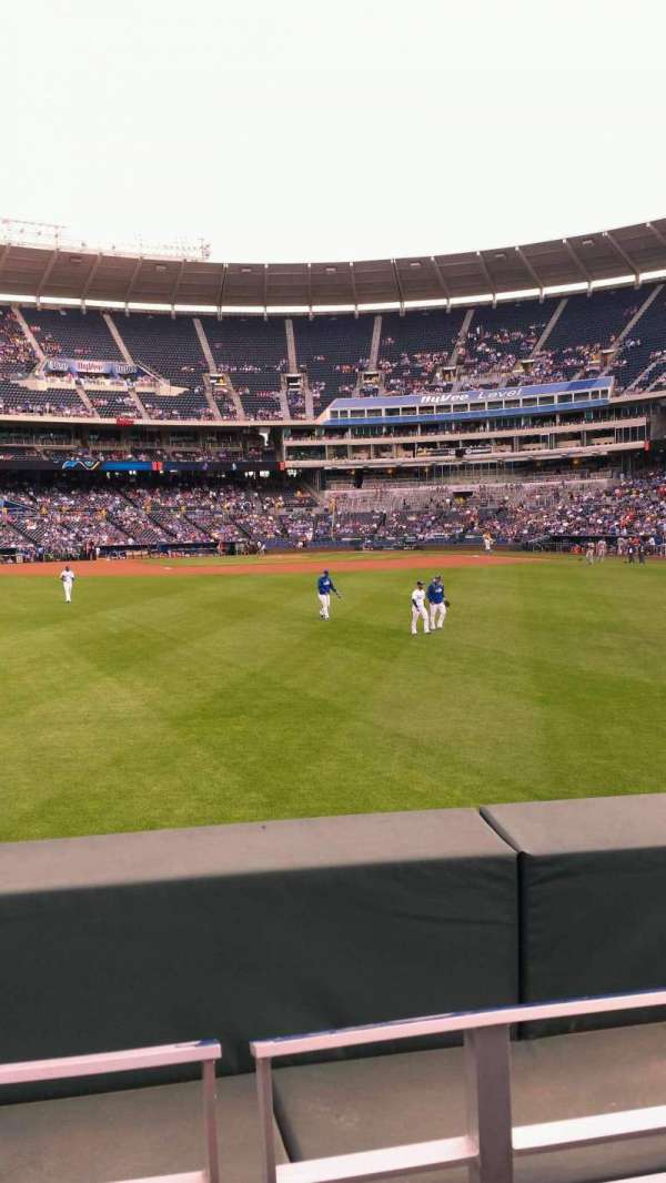 Kauffman Stadium  , section: 103, row: B, seat: 13