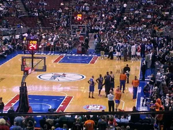 Wells Fargo Center, section: CC20, row: 1, seat: 6