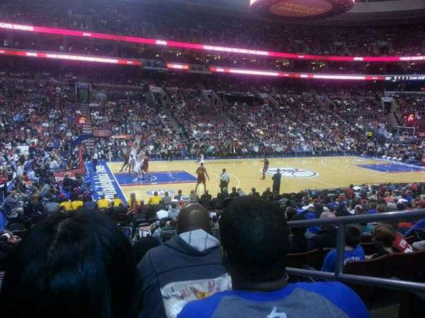 Wells Fargo Center, section: 123, row: 14, seat: 18