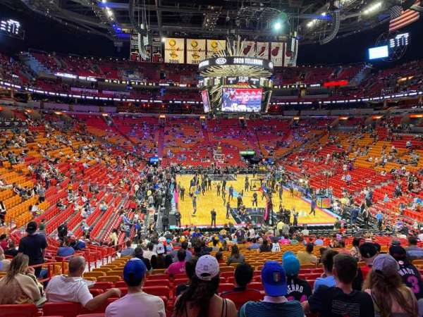 American Airlines Arena, section: 101, row: 30, seat: 14