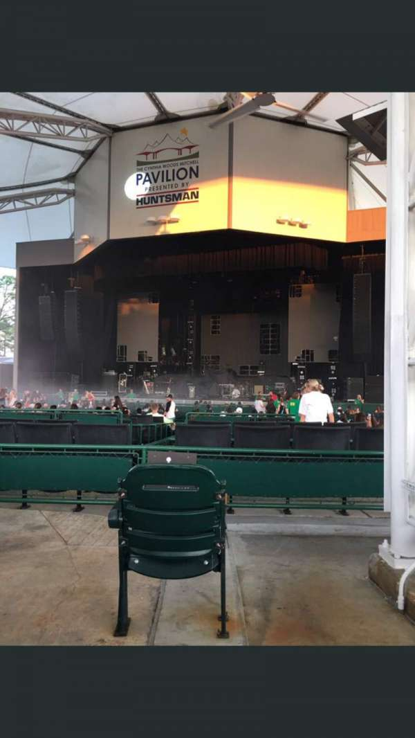 Cynthia Woods Mitchell Pavilion, section: 102, row: DD, seat: 52
