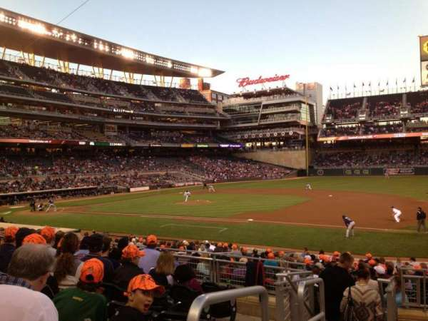 Target Field, section: 106, row: 8, seat: 16