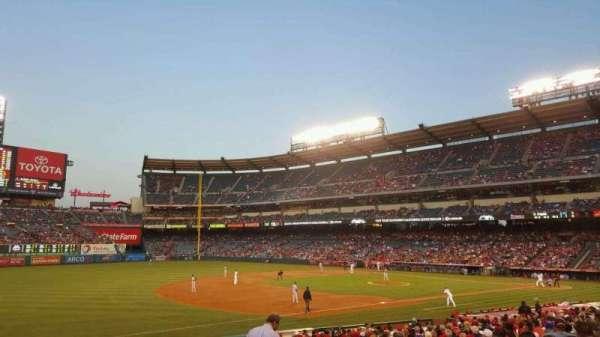 Angel Stadium, section: F108, row: Y, seat: 15