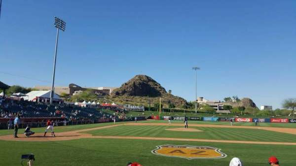 Tempe Diablo Stadium, section: 16, row: F, seat: 1