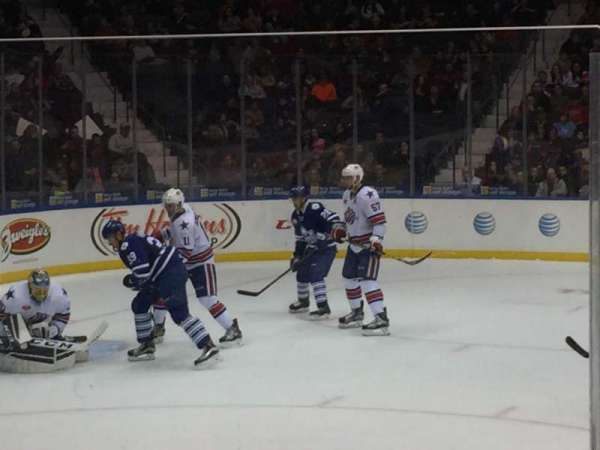 Blue Cross Arena, section: 122, row: 6, seat: 8