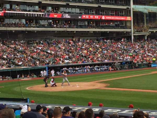 Progressive Field, section: 142, row: T, seat: 9