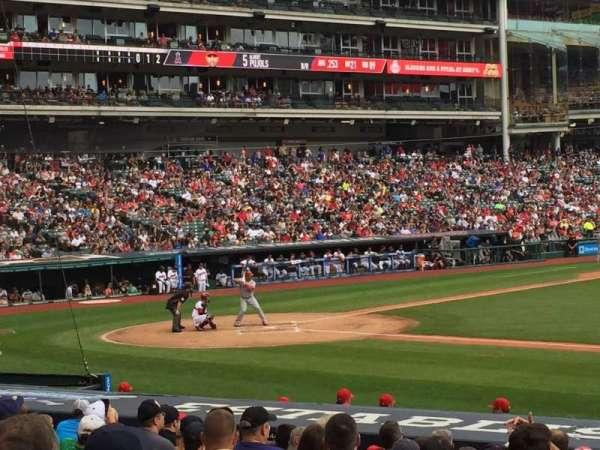 Progressive Field, section: 142, row: T, seat: 9