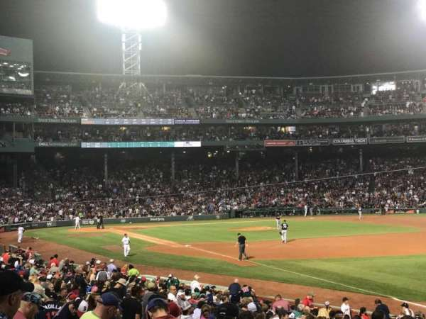 Fenway Park, section: Right Field Box 95, row: PP, seat: 9