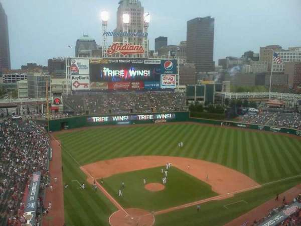 Progressive Field, section: 552, row: k, seat: 16