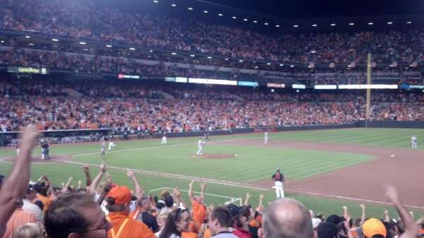 Oriole Park at Camden Yards, section: 16, row: 22, seat: 21