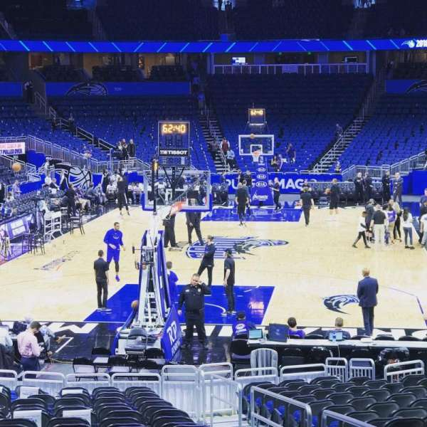 Amway Center, section: 101, row: 17, seat: 3