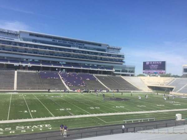 Bill Snyder Family Stadium, section: 21, row: 29, seat: 1
