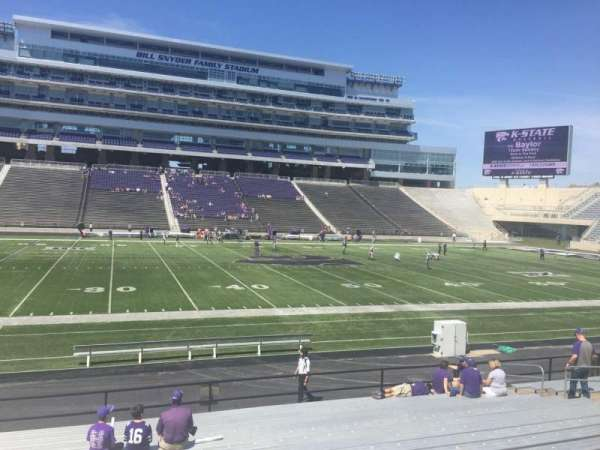 Bill Snyder Family Stadium, section: 23, row: 18, seat: 23