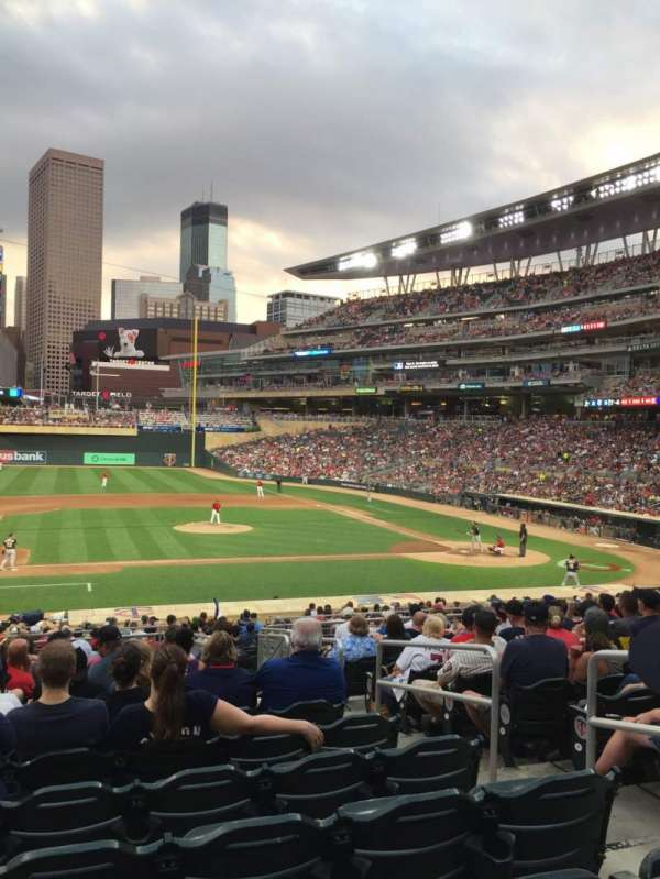 Target Field, section: 120, row: 14, seat: 4