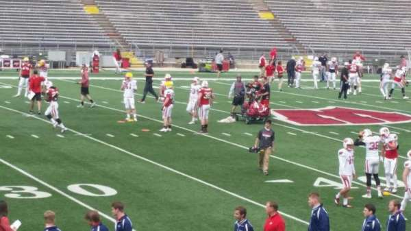 Camp Randall Stadium, section: v, row: 20, seat: 14