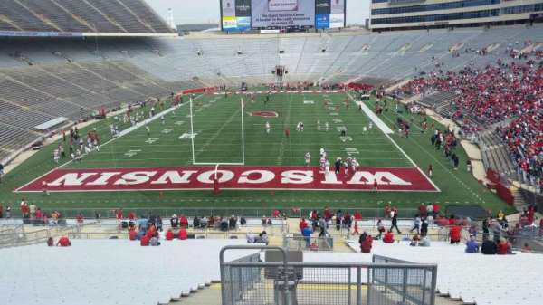 Camp Randall Stadium, section: y3, row: 57, seat: 36