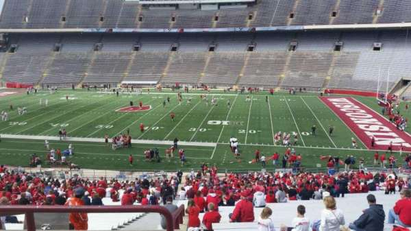 Camp Randall Stadium, section: r, row: 57, seat: 36