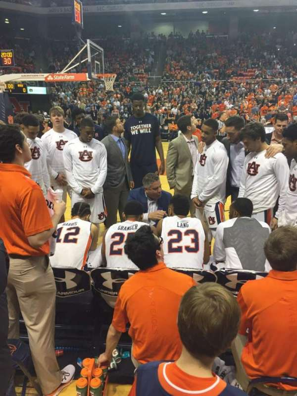 Auburn Arena, section: A, row: 1, seat: 17