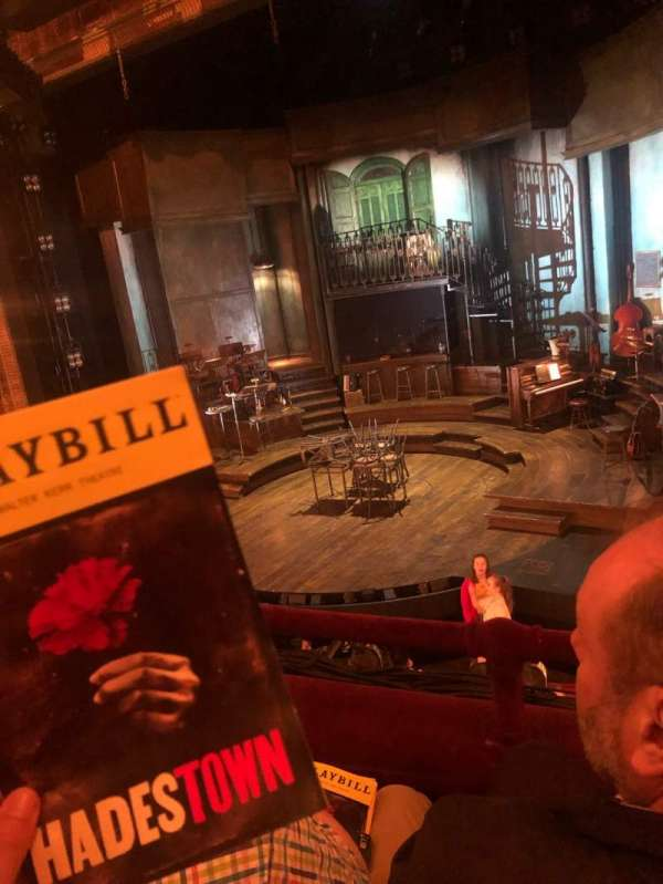Walter Kerr Theatre, section: Mezzanine, row: B, seat: 10