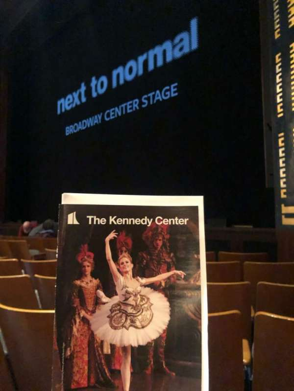 The Kennedy Center Eisenhower Theater, section: Orchestra, row: H, seat: 14