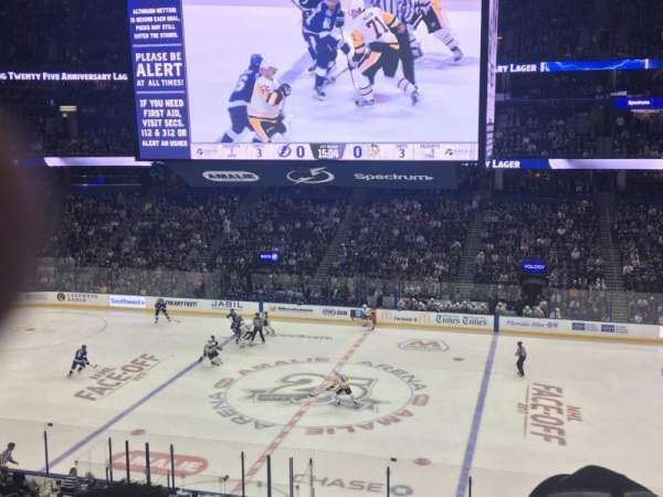 Amalie Arena, section: 215, row: F, seat: 4