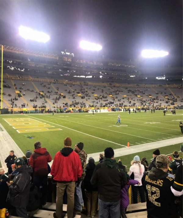 Lambeau Field, section: 131, row: 9, seat: 1