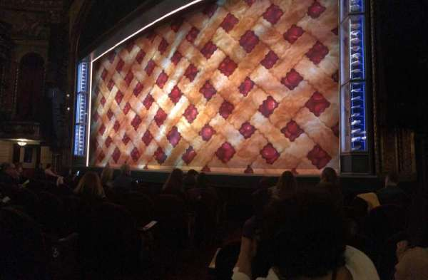 Brooks Atkinson Theatre, section: Orchestra R, row: D, seat: 4