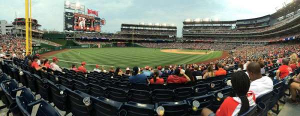 Nationals Park, section: 108, row: CC