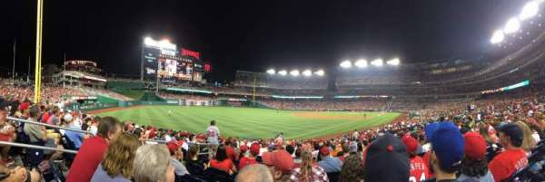 Nationals Park, section: 109, row: AA
