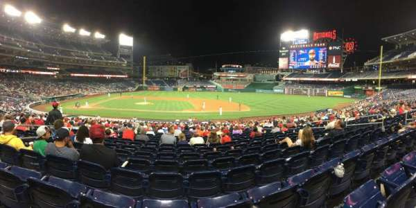 Nationals Park, section: 129, row: HH, seat: 13