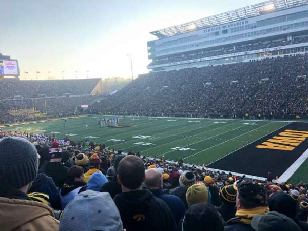 Kinnick Stadium, section: 101, row: 36, seat: 4