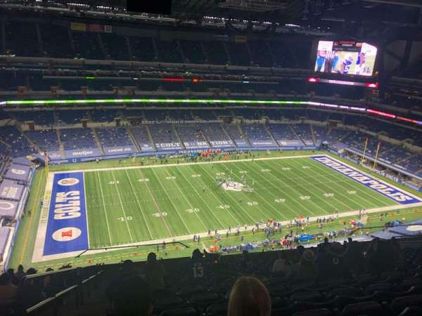 Lucas Oil Stadium, section: 643, row: 17, seat: 23