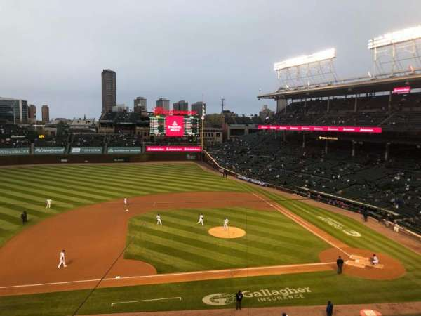 Wrigley Field, section: 310L, row: 1, seat: 15