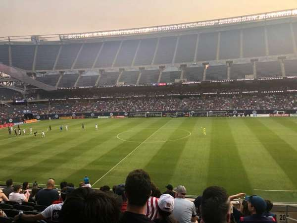 Soldier Field, section: 208, row: 9, seat: 14