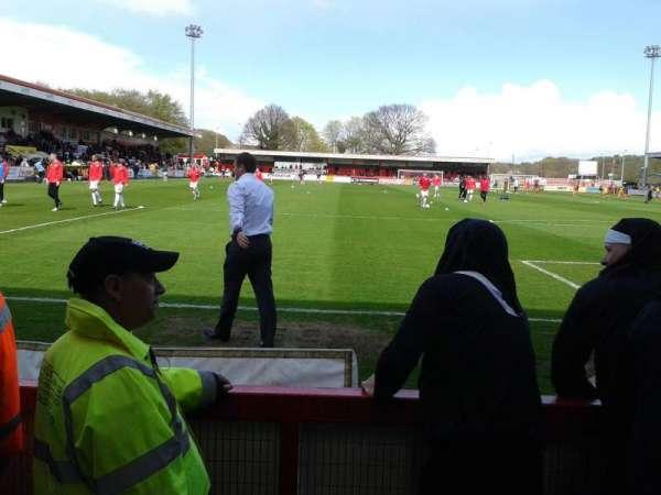 Broadhall Way, section: South Stand, row: B