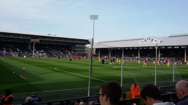 Craven Cottage, section: Putney End, row: N