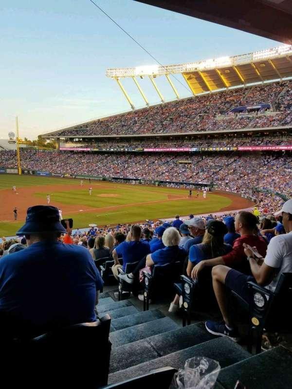 Kauffman Stadium, section: 216, row: LL, seat: 11