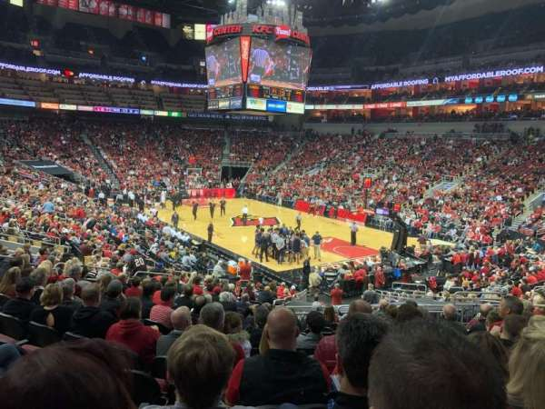 KFC Yum! Center, section: 113, row: Y, seat: 10