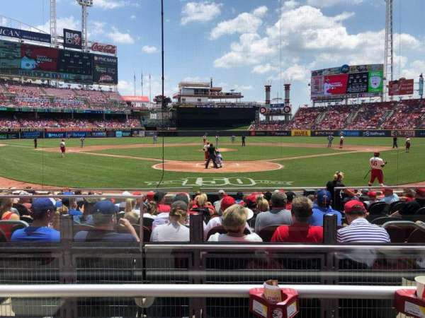 Great American Ball Park, section: 23, row: B, seat: 10