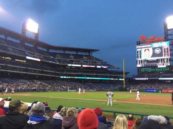 Citizens Bank Park, section: 115, row: 8, seat: 9