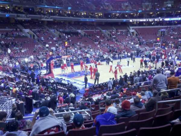 Wells Fargo Center, section: 122, row: 17, seat: 10