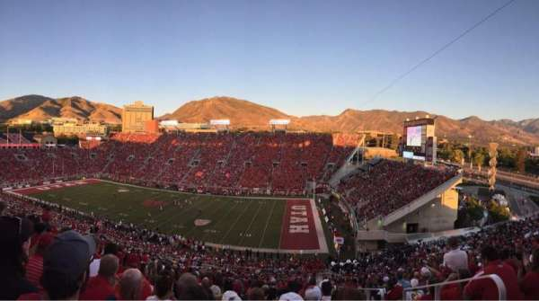 Rice-Eccles Stadium, section: W9, row: 55, seat: 26