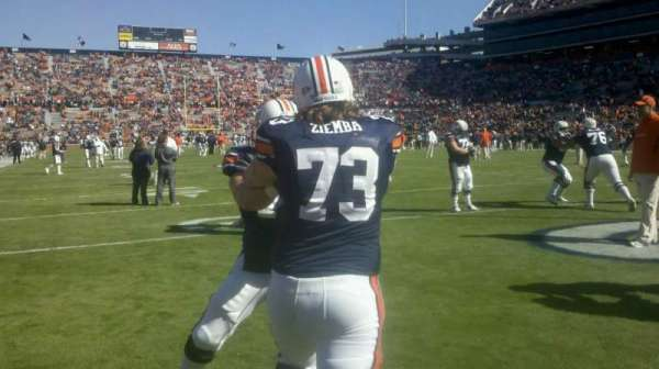 Jordan-Hare Stadium, section: goal line
