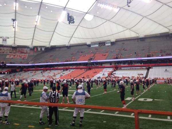 Carrier Dome, section: 113, row: A, seat: 114