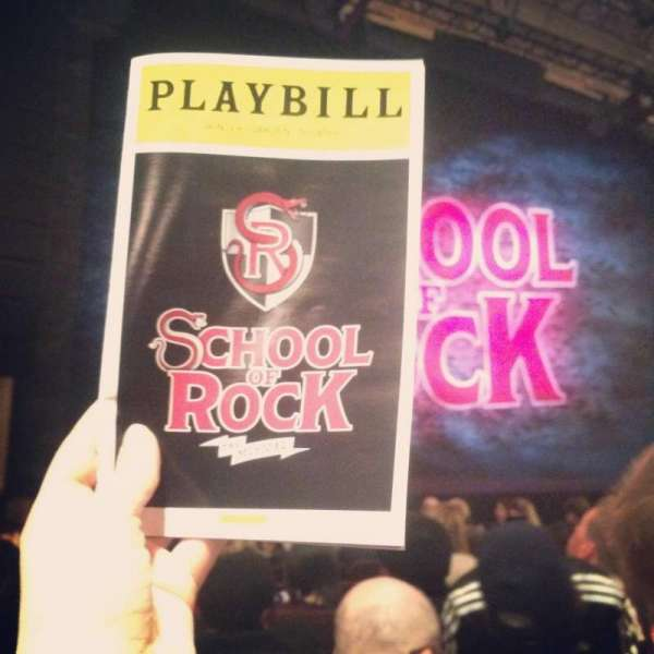 Winter Garden Theatre, section: Orchestra Right, row: K, seat: 108- I thi