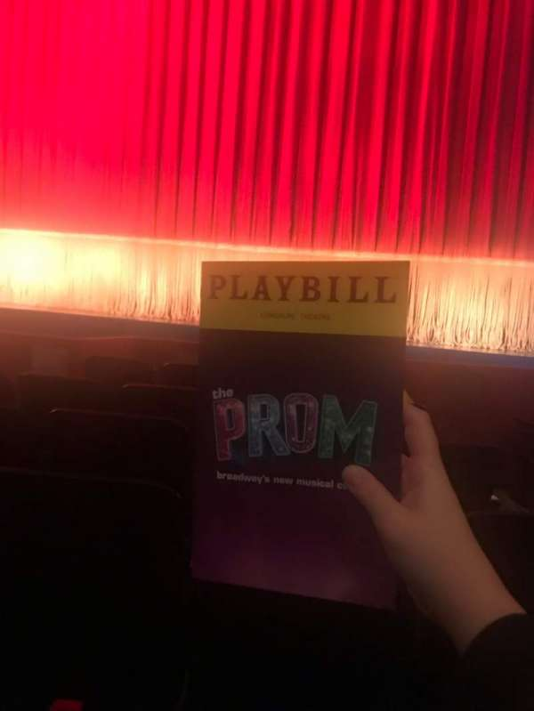 Longacre Theatre, section: Orchestra C, row: F, seat: 102